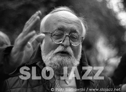 KRZYSZTOF PENDERECKI composer modern classical avantgarde contemporary new music conductor opera symphony Music Academy Krakow Hiroshima Loudun Polish Requiem Warsaw Autumn Donaueschingen Don Cherry Actions slo jazz photography Piotr Siatkowski