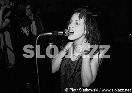 NAUSEA Amy Miret singer American NYC hardcore band independent anarcho punk DIY New York City squat underground live gig concert music photography slo jazz image Piotr Siatkowski
